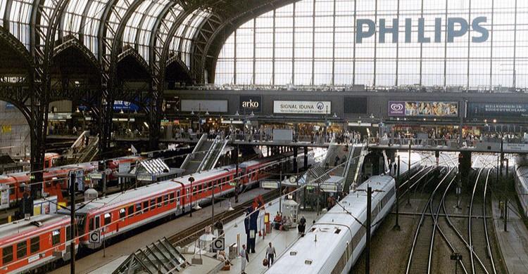 Estación de tren europea. Roland (Flickr)