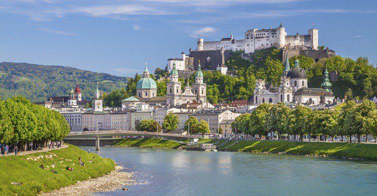 Vista parcial de Salzburgo. Bluejayphoto (iStock)