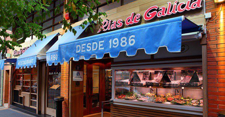 Fachada de Rías de Galicia en Barcelona (http://www.riasdegalicia.com/)