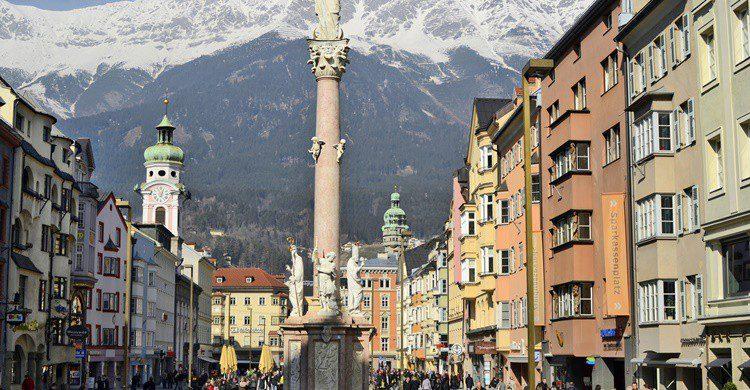Maria-Theresien-Strasse en Innsbruck. Fotofritz16 (iStock)