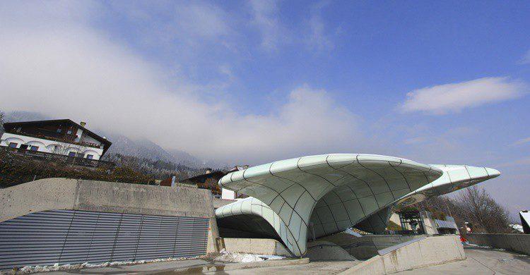 Estación vanguardista de funicular en Innsbruck. Sasimoto (iStock)