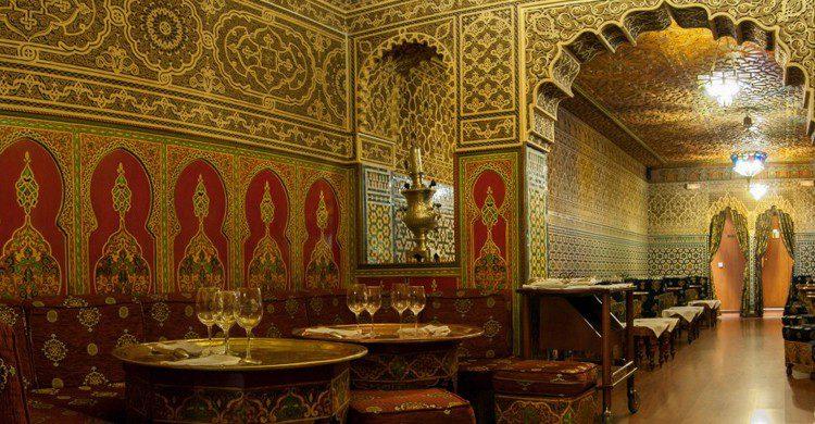 Vista del restaurante vacío (Restaurante árabe Amounia, Facebook)