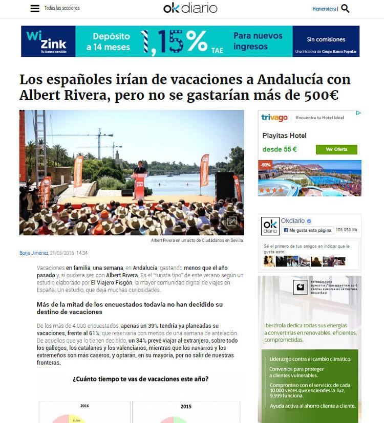 Ok Diario es otro de los medios de comunicación digitales en los que hemos aparecido.