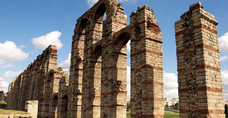 Acueducto de Los Milagros, en Mérida (Flickr)