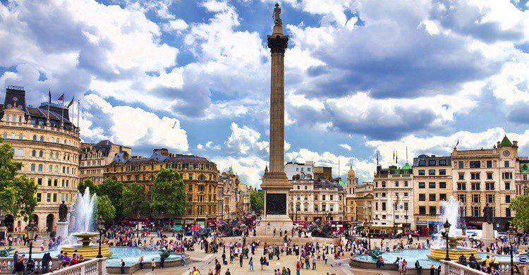 Trafalgar Square en Londres. Lachris77 (iStock)