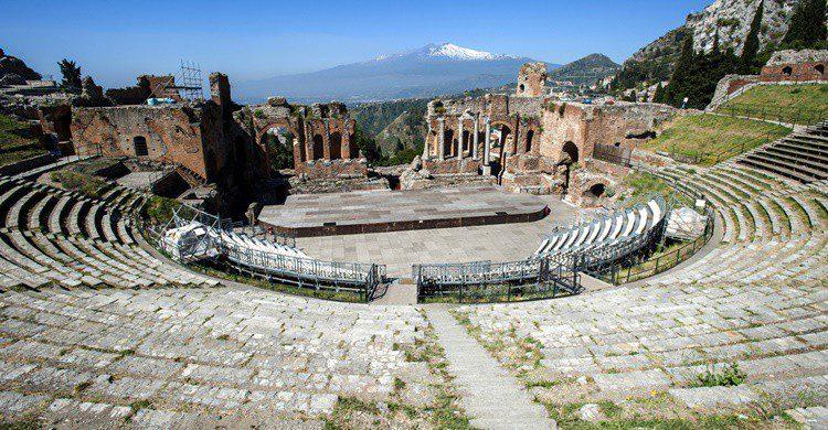 Teatro griego de Taormina. Luiginifosi (iStock)