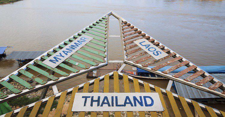 Famoso triángulo dorado en el río Mekong, en la frontera entre Tailandia, Laos y Birmania. Bonilla1879 (iStock)