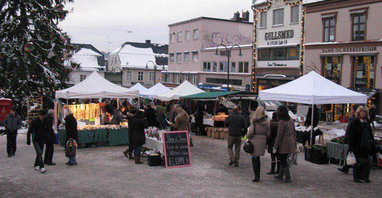 Mercadillo de Navidad en Tønsberg, Noruega. Nakhon100 (Flickr)
