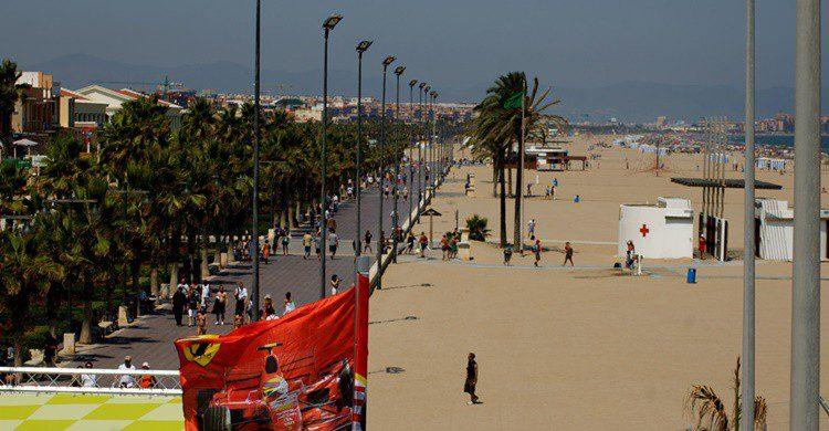 Playa de la Malvarrosa de Valencia. Emilio del Prado (Flickr)