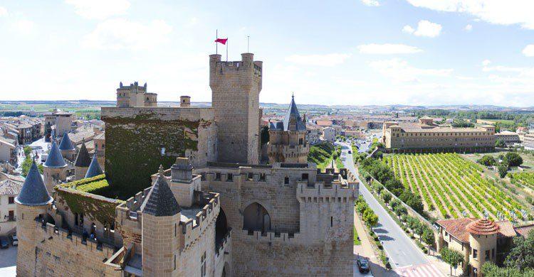 El Castillo de Olite, monumento nacional, es uno de los castillos más bonitos de Europa. (Flickr)