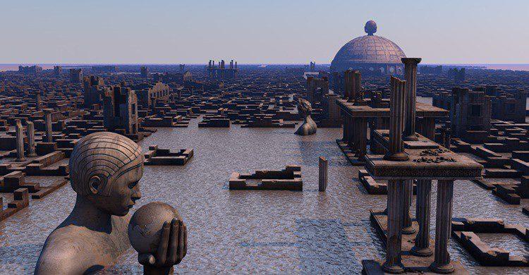Recreación de la Atlántida. Juanmrgt (iStock)