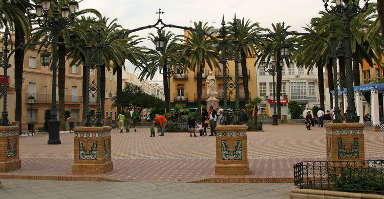 Plaza en Ayamonte. Bert Kaufmann (Flickr)