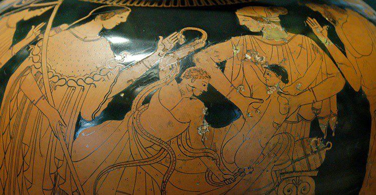 Pasaje histórico en un ánfora griega (Wikipedia Creative Commons)