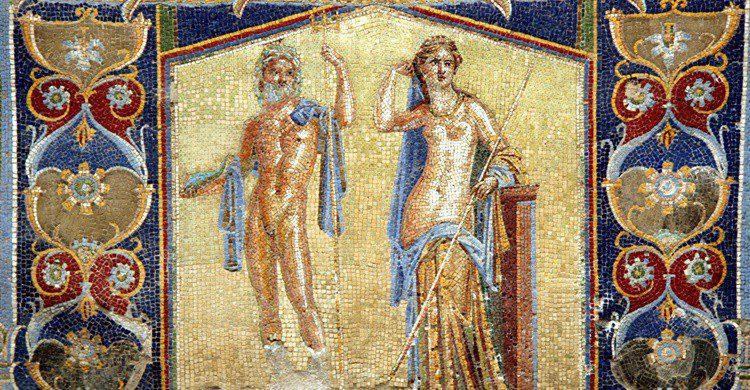 Mosaico de motivos marinos. Quinok (Wikipedia Creative Commons)