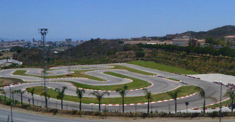 Vista parcial del circuito de Mijas (http://www.kartingexperience.com/karting-mijas)