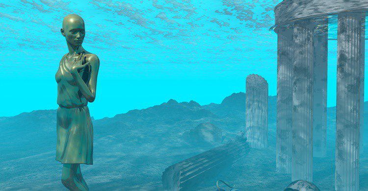 Recreación de restos de la Atlántida. Surovtseva (iStock)