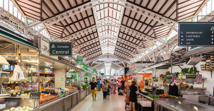 Mercado Central de Valencia (wikimedia.org)