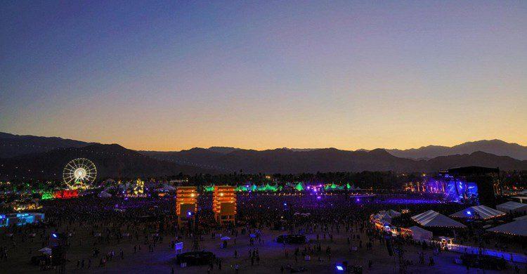 Vista aérea de la edición 2016 (Coachella, Facebook)