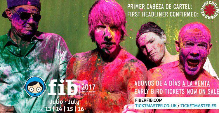 Confirmación de Red Hot Chili Peppers (FIB Benicàssim Festival, Facebook)