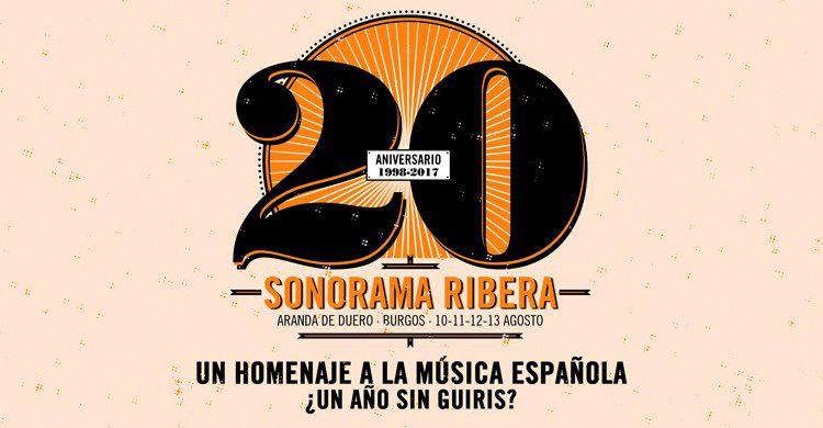 Póster aniversario (Web del festival Sonorama Ribera)