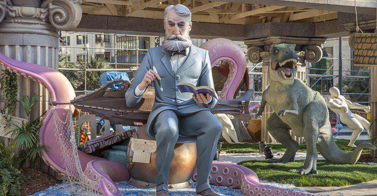 Julio Verne, inmortalizado en una falla valenciana. Jorgefontestad (iStock)