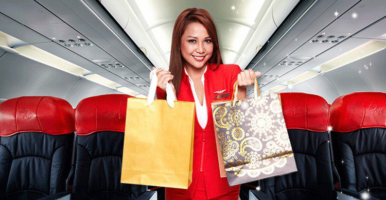 Compras a bordo (Web de Air Asia)