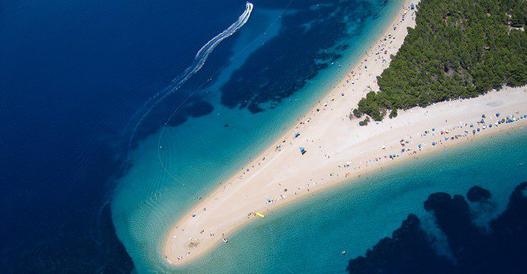 Espectacular lengua de arena en la isla de Brac de Croacia. Szabolcs Emich (Flickr)