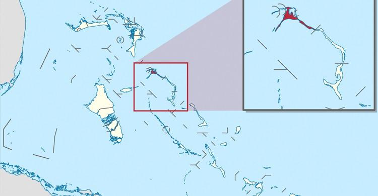 Mapa de Eleuthera