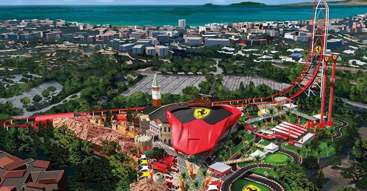 Vista general de Ferrari Land Tarragona (PortAventura, Facebook)
