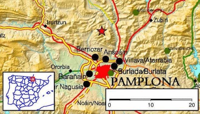 Epicentro del Terremoto de Pamplona