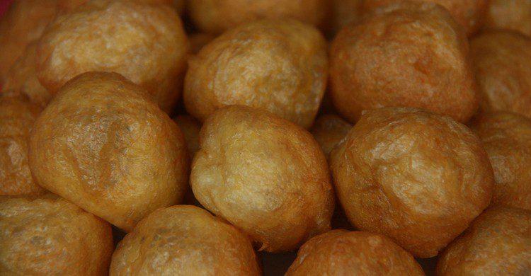 Buñuelos de una pastelería de Madrid
