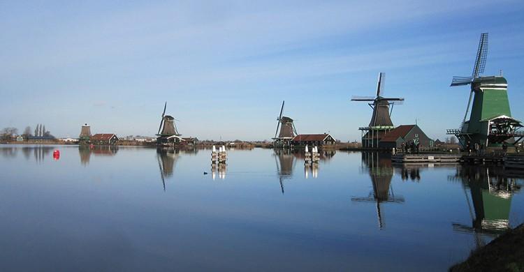 Los molinos de Zaanse Schans, cerca de Ámsterdam