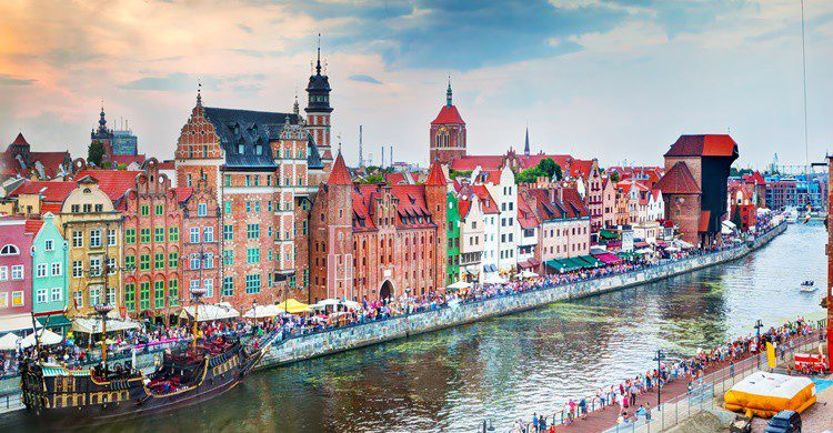 Gdansk, a orillas del río Motlawa. NiseriN (iStock)