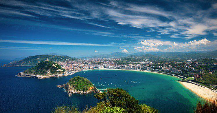 Vista panorámica de San Sebastián. BotondHorvath (iStock)