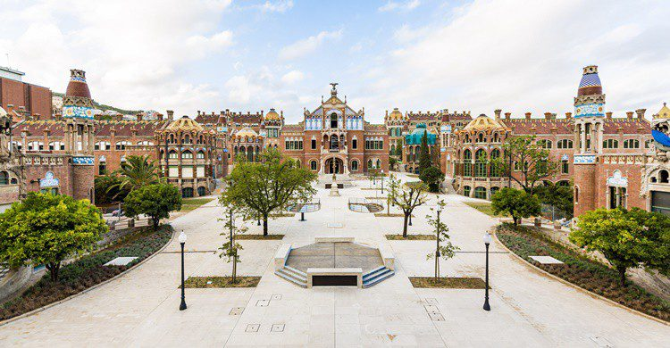 Vista general del Recinto Modernista de Sant Pau. Sant Pau Recinte Modernista (Flickr)