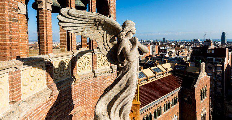 Uno de los detalles decorativos. Sant Pau Recinte Modernista (Flickr)