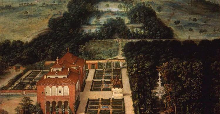 Paisaje de la Casa de Campo, de Félix Castello (Museo de Historia de Madrid, Wikipedia)