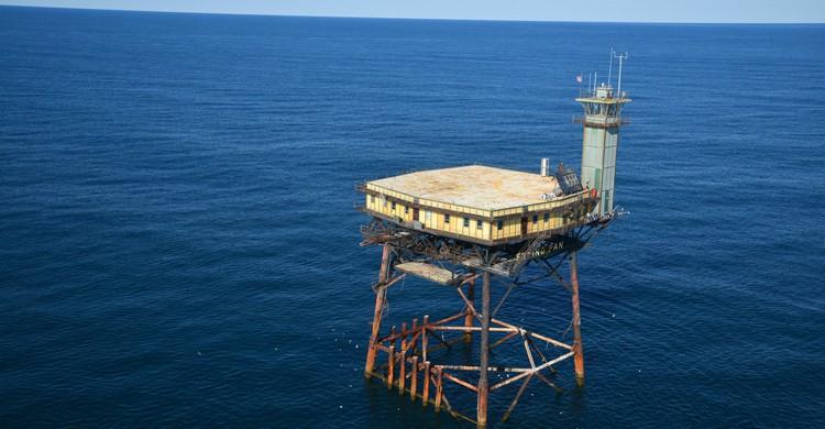 vista aérea del hotel (Web del Frying Pan Tower)