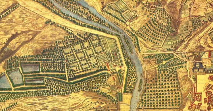 Plano de Madrid de Pedro Teixeira, 1656 (Pedro Teixeira Albernaz, Wikipedia)