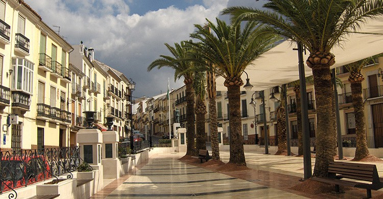 Una plaza de Archidona, Andalucía