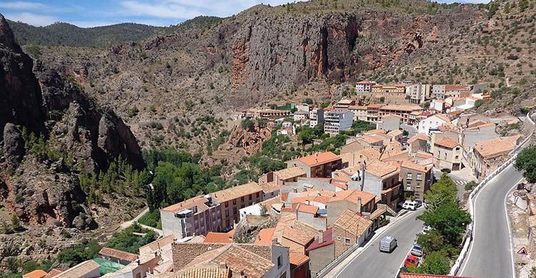 Vistas del pueblo de Ayna, Albacete