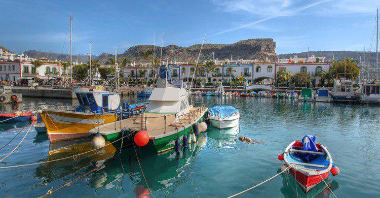 Puerto de Mogán, en Gran Canaria. repistu (iStock)