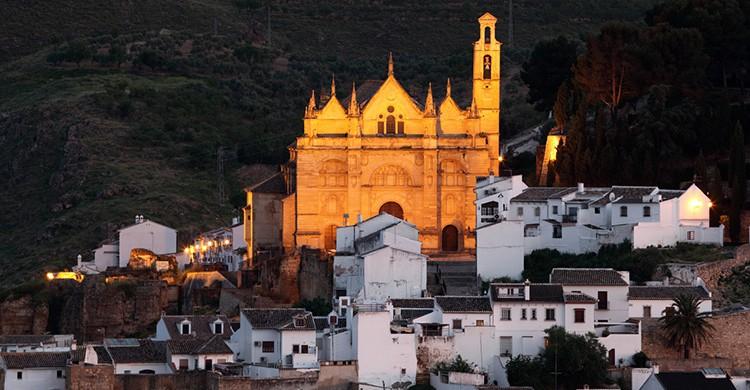 Vistas de la catedral de Antequera