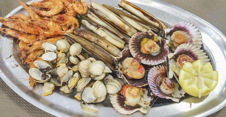 Mariscada variada de Galicia