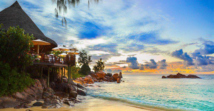 paraíso en las Islas Seychelles