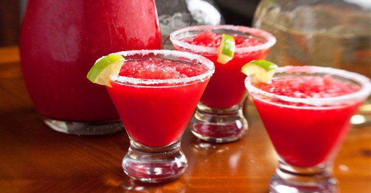 chupitos de tequila fresa en verano