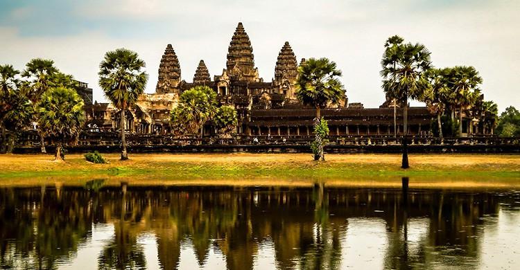 Vistas de un tempo en Angkor, Camboya