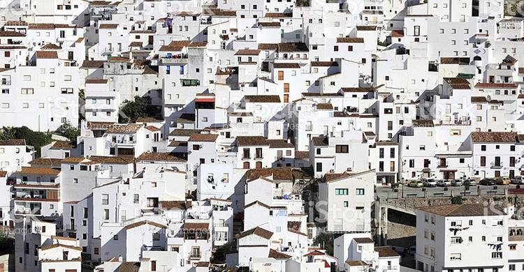 Casitas blancas en Casares, Málaga