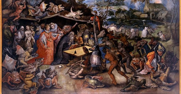 Reproducción del cuadro de Jan Brueghel, Tentaciones de San Antonio Abad