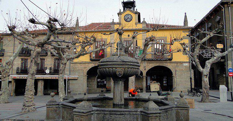 Plaza central en Piedrahíta